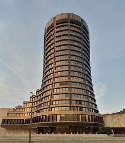 BIS main building in Basel, Switzerland