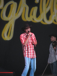 Performing at the Crawford County Fair, Meadville, PA, in August 2005
