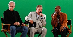 Shatner with Brent Spiner and LeVar Burton in July 2010