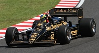 Bruno Senna's helmet design is an adaptation of his uncle's (seen here parading the 1985 Lotus 97T at the 2010 Japanese Grand Prix).