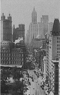 A view of Broadway in 1909