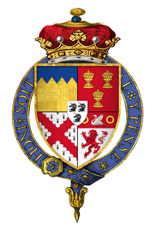 Quartered arms of James Butler, 1st Marquess of Ormonde, KG
