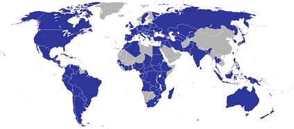 Countries hosting diplomatic missions of the Holy See