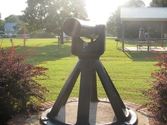 The Ellendale War Memorial cannon is dedicated to one of the fallen citizens of Ellendale from World War II.