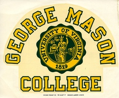 Decal from when George Mason College was a part of the University of Virginia