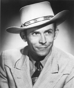 Hank Williams, an influential honky-tonker from the 1940s and early 1950s