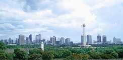 Jakarta, the capital city and the country's commercial centre