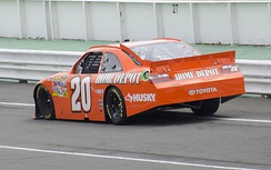 Logano during the 2011 Good Sam RV Insurance 500 at Pocono Raceway