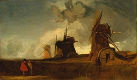 Drainage Mills in the Fens, Croyland, Lincolnshire. John Sell Cotman
