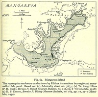 Map of Mangareva dated from 1938