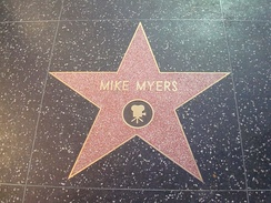 Myers' star on the Hollywood Walk of Fame