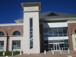 The new Bienville Parish Courthouse building in Arcadia is located to the north of Interstate 20.