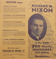 Nixon campaign flier for the primary election
