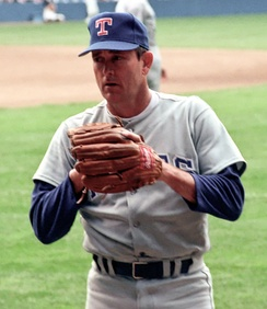 Nolan Ryan pitched two no-hitters with the Rangers.