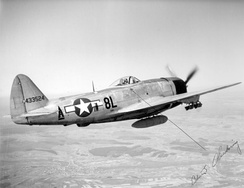 The P-47D of the Group commander, Col. Chickering, in 1945
