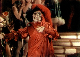 Frame enlargement of a Technicolor segment from The Phantom of the Opera (1925). The film was one of the earliest uses of the process on interior sets, and demonstrated its versatility.