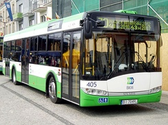 Example picture of public bus service in the city