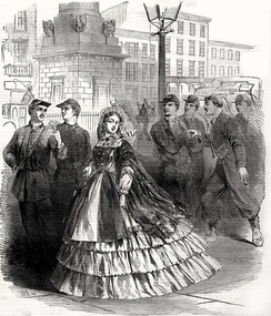 Cover illustration of Harper's Weekly, September 7, 1861 showing a stereotypical Southern belle