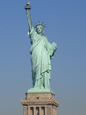 The Statue of Liberty was a common sight to many immigrants who entered the United States through Ellis Island