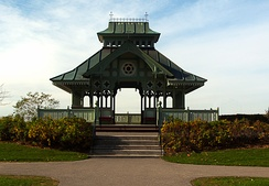 The reconstructed Summer Gazebo