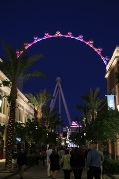 The Linq Promenade with the High Roller in the background in 2014