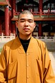 A Chinese Buddhist monk in mainland China
