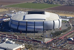 University of Phoenix Stadium, a sports stadium in Glendale, Arizona for which the corporation paid for naming rights from 2006 to 2018.