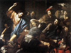Christ Driving the Money Changers out of the Temple Valentin de Boulogne