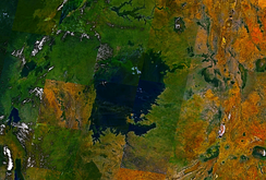 Landsat 7 imagery of Lake Victoria