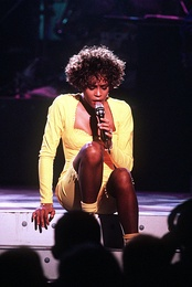 "Whitney performing the song during the HBO-televised concert ""Welcome Home Heroes with Whitney Houston""."
