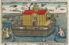 A woodcut of Noah's Ark from Anton Koberger's German Bible