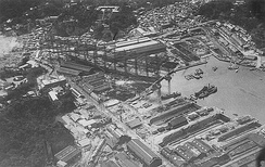 Yokosuka Naval Arsenal immediately after the Great Kantō earthquake of 1923