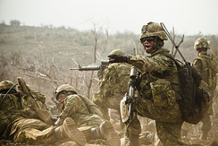 Soldiers from Princess Patricia's Canadian Light Infantry conducting an exercise during RIMPAC 2012