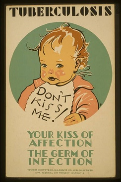 Tuberculosis prevention poster from the United States, c. 1940