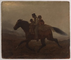 A Ride for Liberty—The Fugitive Slaves (c. 1862) by Eastman Johnson Brooklyn Museum