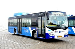 Battery electric bus by BYD in the Netherlands
