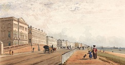 Brighton, The Front and the Chain Pier Seen in the Distance, Frederick William Woledge, 1840