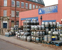 Firkins outside the Castle Rock microbrewery in Nottingham