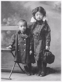 The author's oldest and youngest children (Mari and Rui).