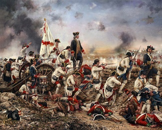 Painting of Gálvez at the Siege of Pensacola by Augusto Ferrer-Dalmau