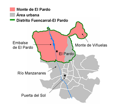 Mount of El Pardo and Soto de Viñuelas inside the city of Madrid