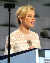 Hunger Games actress Elizabeth Banks hosted the second night when she mocked Donald Trump's entrance the previous week. She received negative reviews from conservative media outlets.[90] Brian May of the band Queen commended her for the gag.[91]