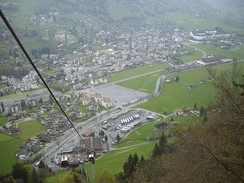 Engelberg town from Mt. Titlis cable car