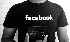 "A Facebook ""White Hat"" debit card, given to researchers who report security bugs."