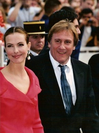 Depardieu with Carole Bouquet at the 2001 Cannes Film Festival