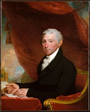 The fifth President of the United States, James Monroe, c. 1820–1822