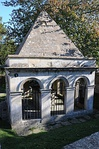 Mausoleum to Ralph Allen, in churchyard to south of St Mary's Church