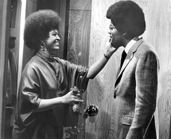 Foster and Williams in a Mod Squad episode in 1970.  Foster guest-starred as a blind friend of Linc Hayes.
