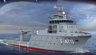 Artist impression of Navajo-class towing, salvage and rescue ship