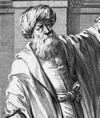 Ibn al-Haytham (965–1039). A polymath, considered by some to be the father of modern scientific methodology, due to his emphasis on experimental data and reproducibility of its results.[12][13]